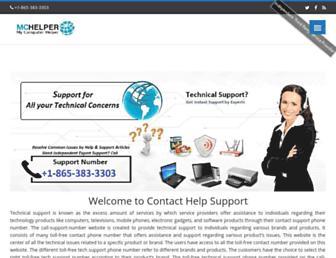 contacthelpsupport.com screenshot