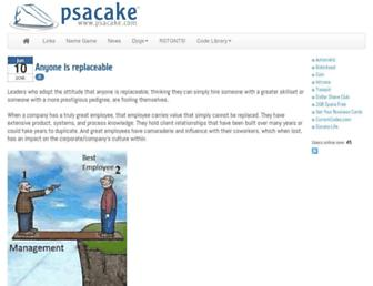 psacake.com screenshot