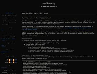 Main page screenshot of nosec.ch