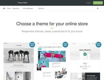 themes.shopify.com screenshot