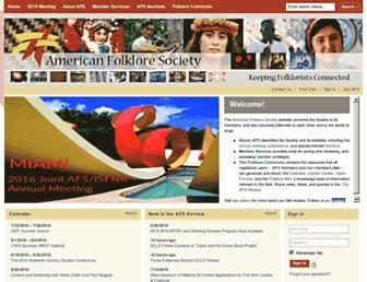 Main page screenshot of afsnet.org