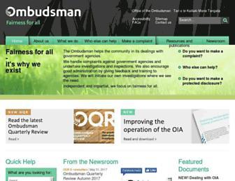 ombudsman.parliament.nz screenshot