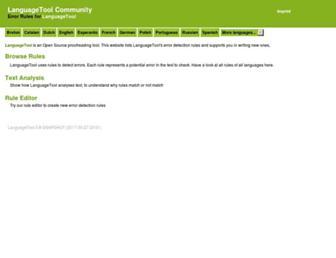 community.languagetool.org screenshot