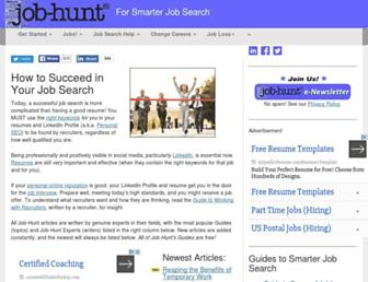 Main page screenshot of job-hunt.org