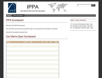 scoreboard.i-pp-a.org screenshot