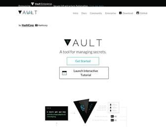 vaultproject.io screenshot