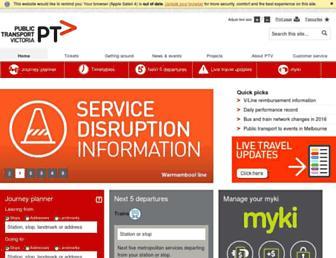 ptv.vic.gov.au screenshot