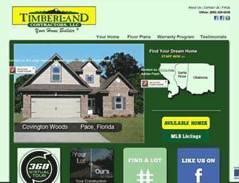 timberlandcontractors.com screenshot