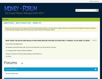 Main page screenshot of money-forum.org