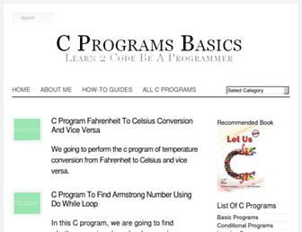 cprogramsbasics.blogspot.com screenshot