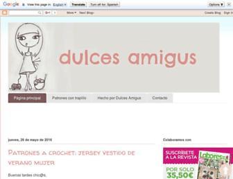 dulcesamigus.blogspot.com screenshot
