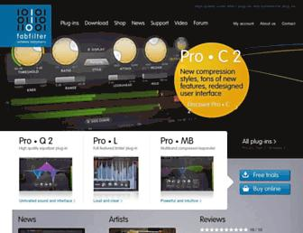 fabfilter.com screenshot