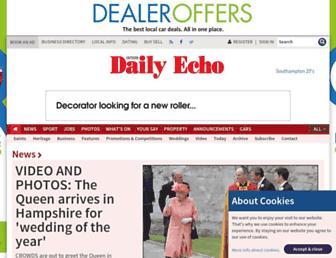 Main page screenshot of dailyecho.co.uk