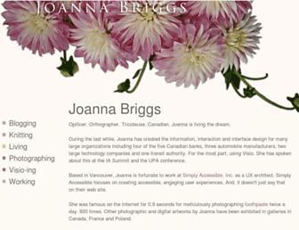 Main page screenshot of joanna.briggs.ca