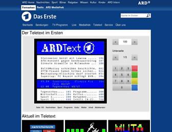 Main page screenshot of ardtext.de