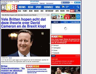 Main page screenshot of hln.be