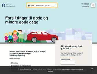 gjensidige.dk screenshot