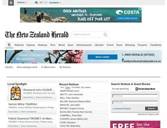 notices.nzherald.co.nz screenshot