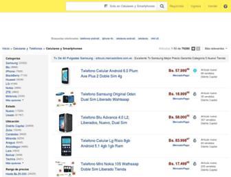celulares.mercadolibre.com.ve screenshot