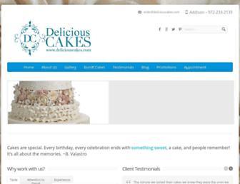 deliciouscakes.com screenshot