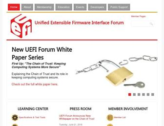 uefi.org screenshot