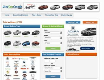 usedcarscanada.com screenshot