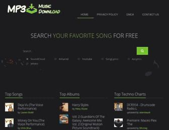 mp3musicdown.com screenshot