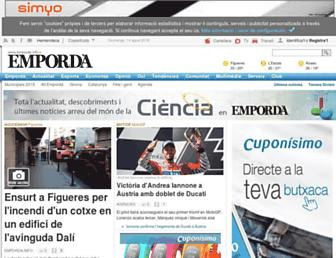 Main page screenshot of emporda.info