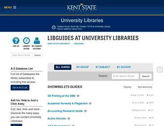 libguides.library.kent.edu screenshot