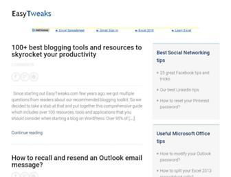 easytweaks.com screenshot