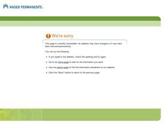 info.kaiserpermanente.org screenshot