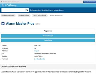 alarm-master-plus.en.lo4d.com screenshot