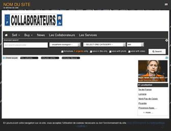 Main page screenshot of collaborateurs.fr