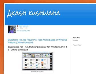 akashkushwaha02.blogspot.com screenshot