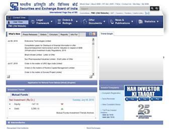 sebi.gov.in screenshot
