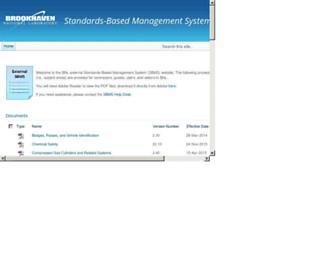sbms.bnl.gov screenshot