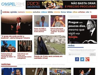 Main page screenshot of gospelprime.com.br