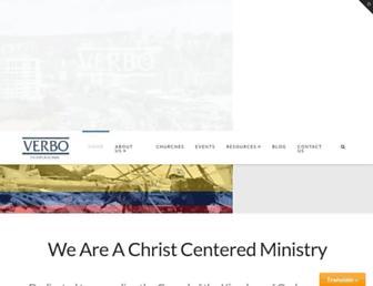 Main page screenshot of verbo.org