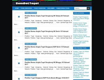 gembel-togel.blogspot.com screenshot