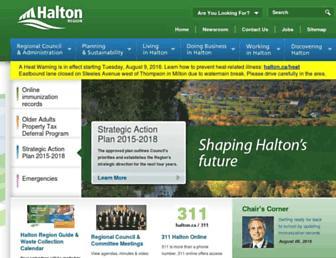 Main page screenshot of halton.ca