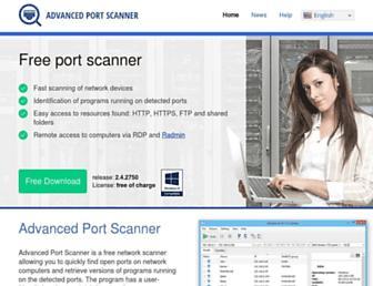 advanced-port-scanner.com screenshot