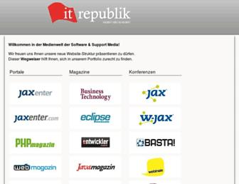 Main page screenshot of it-republik.de