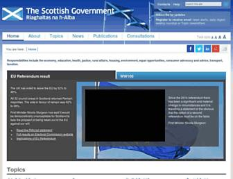 Thumbshot of Scotland.gov.uk