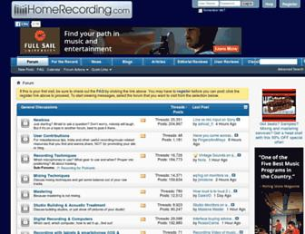 homerecording.com screenshot
