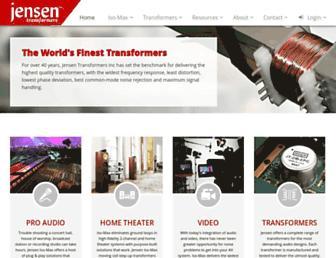 jensen-transformers.com screenshot