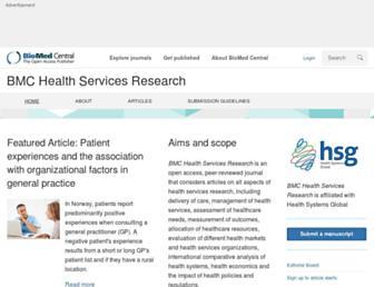 bmchealthservres.biomedcentral.com screenshot
