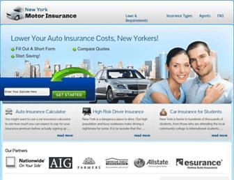 newyorkmotorinsurance.com screenshot