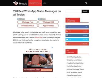 whatsappstatus.pingzic.com screenshot