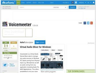 voicemeeter.en.softonic.com screenshot