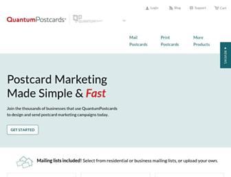 quantumpostcards.com screenshot